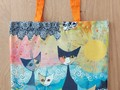 "Rosina Wachtmeister chats sac de comission shopping bag ""Merleto Sole"""