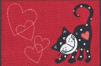 "Tapis paillasson chats ""Romeo in Love"" lavable"
