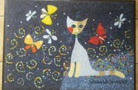 "Rosina Wachtmeister Tapis wash&dry ""Danza delle farfalle"""