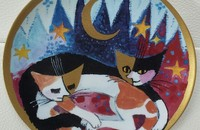 "Rosina Wachtmeister assiette de collection 1997 ""Romance au clair de lune"""