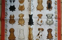 "Linge de cuisine chiots ""Puppies in waiting"""
