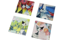 "Rosina Wachtmeister 4 sous-verres 2020 ""Colori del paradiso"""
