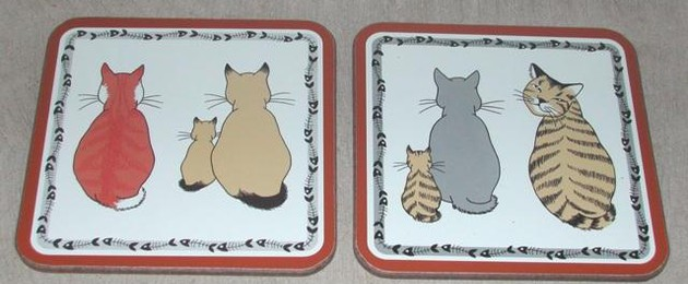 "Sous-verres ""Cats in waiting"""
