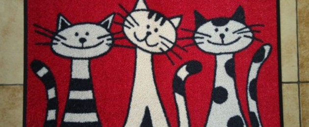 "Tapis rouge wash&dry ""Three Cats"""
