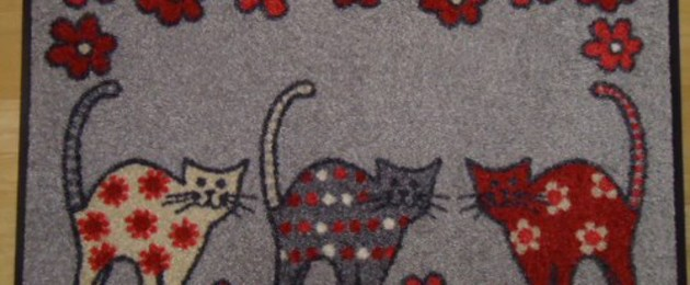 "Tapis wash&dry  ""Cat Parade"""