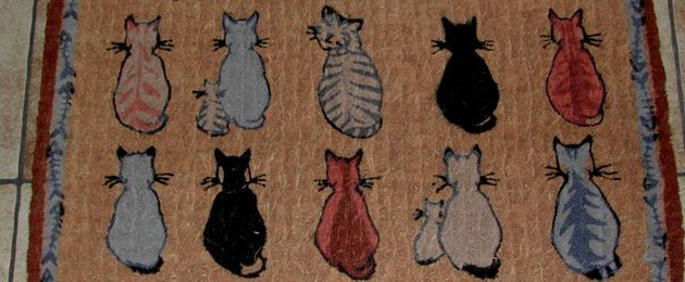 "Tapis de porte ""CATS IN WAITING"""